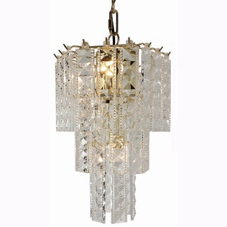 Prismatic small 4-light hexagon Chandelier with Brass Finish