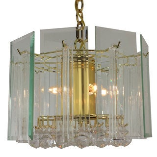 Contemporary 4-light chandelier with Brass Finish
