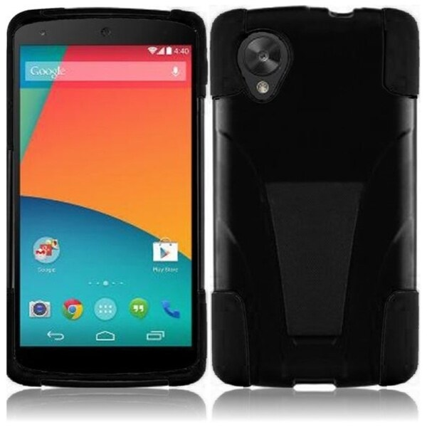 BasAcc Dual Layered Stand Hybrid Cover Case for Google Nexus 5