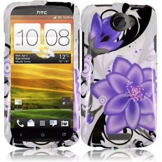 BasAcc Hard Plastic Protective Design Cover Case for HTC One X LTE