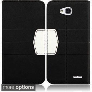 BasAcc Heavy Duty Synthetic Leather Wallet Case Cover for LG L70