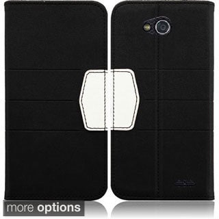 BasAcc Synthetic Leather Wallet Case Cover for LG L90/ VS450 Optimus Exceed 2