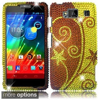 BasAcc Plastic Diamond Bling Crystal Cover Case for Motorola Droid Razr HD XT926
