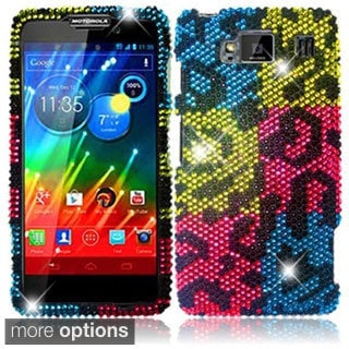 BasAcc Diamond Bling Crystal Cover Case for Motorola Droid RazrMaxx HD XT926M