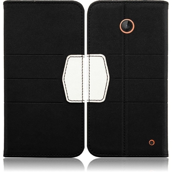 INSTEN Heavy Duty Synthetic Leather Wallet Phone Case Cover for Nokia Lumia 635