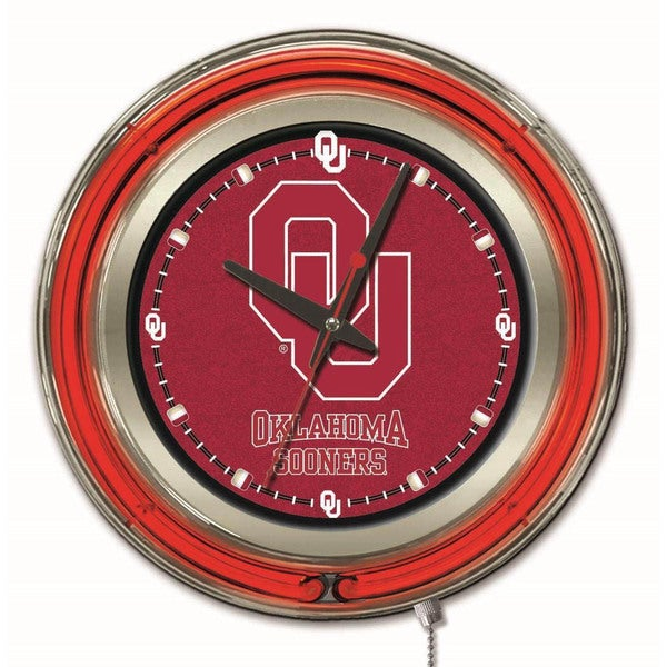 Holland Big 12-inch Logo Neon Clock 13081590