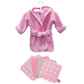 Trend Lab 6-piece Pink Bath Set Robe and Wash Cloth Set