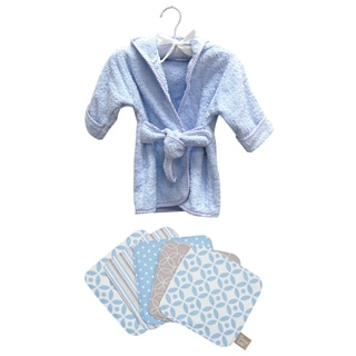 Trend Lab 6-piece Blue Bath Set Robe and Wash Cloth Set