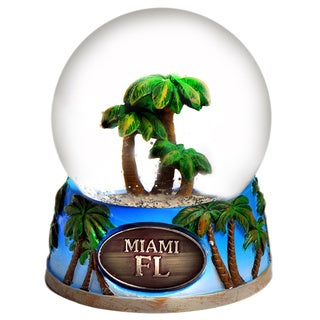Miami Palm Tree 65mm Snow Globe