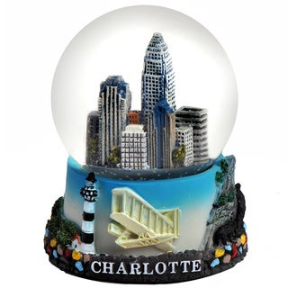 Charlotte North Carolina 65mm Snow Globe