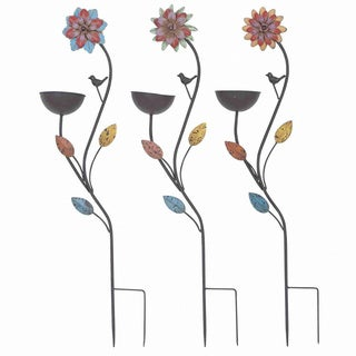 Metal Garden Bird Feed Stake (Set of 3)