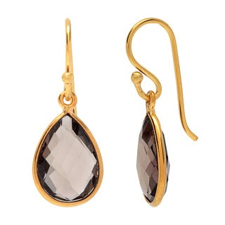 Sitara Goldplated Smokey Quartz Earrings (India)