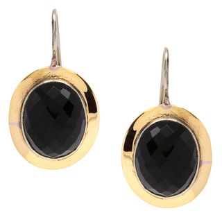 Sitara Goldplated Black Onyx Dangle Earrings (India)