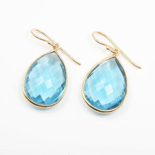 Sitara Blue Quartz Goldplated Earrings (India)