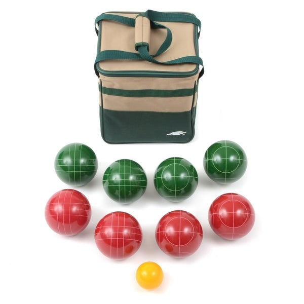 Lion Sports Best 107 MM Tournament Resin Bocce Set in PVC Carry Bag