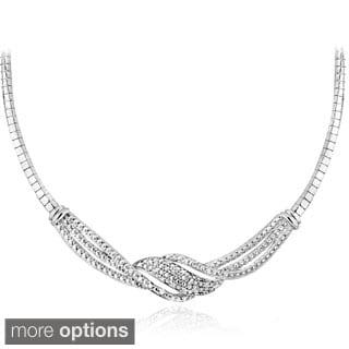 DB Designs Silvertone or Goldtone 1/4ct TDW Diamond Twist Necklace (I-J, I2-I3)