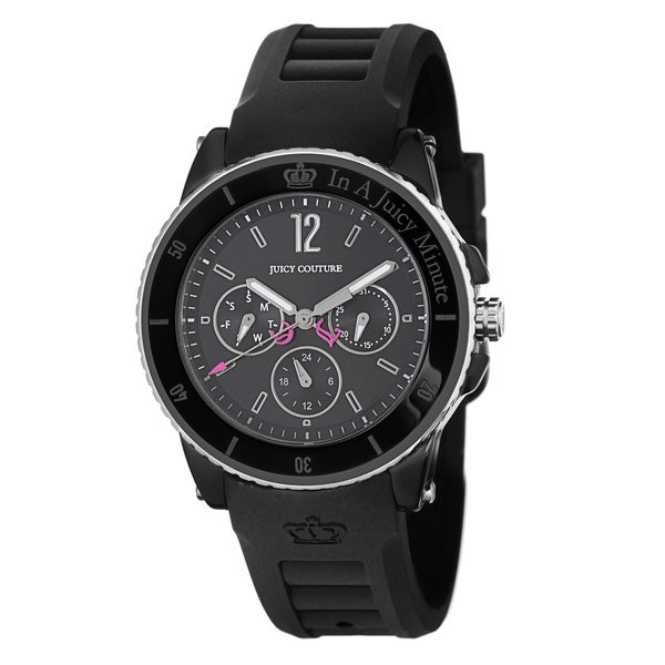 Juicy Couture Women's 1900754 'Pedigree' Black Steel and Ceramic Watch