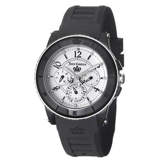 Juicy Couture Women's 1900756 'Pedigree' White Dial Steel and Ceramic Watch