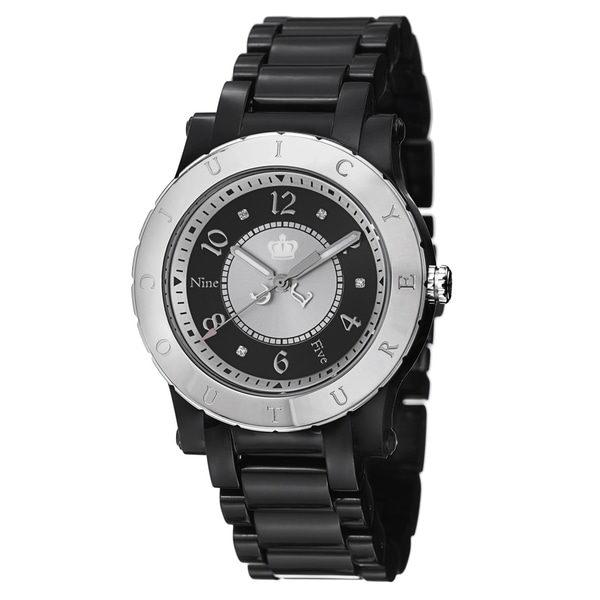 Juicy Couture Women's 1900845 'HRH' Black Stainless Steel and Plastic Watch