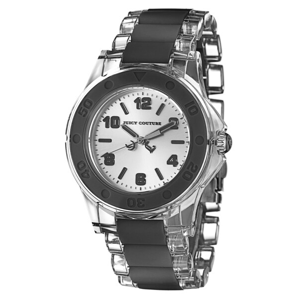 Juicy Couture Women's 1900870 'Rich Girl' Black Plastic Watch