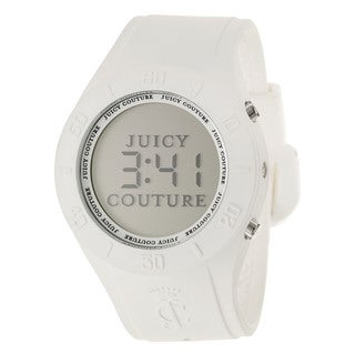 Juicy Couture Women's 1900880 'Sporty Couture' White Silicone Digital Watch