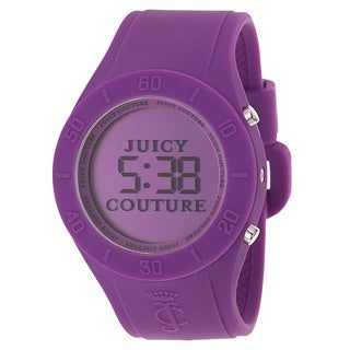 Juicy Couture Women's 1900882 'Sporty Couture' Purple Silicond Digital Watch