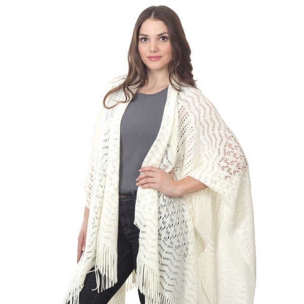 Saro Knitted Design Wrap