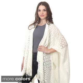 Saro Knitted Design Wrap