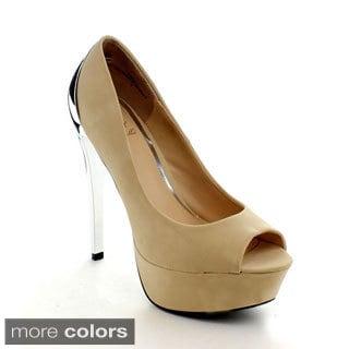 Rck Bella Damica-1 Women's Peep Toe Platform Heels