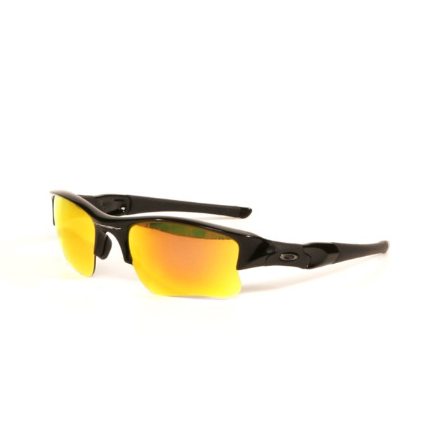 Oakley Flak Jacket XLJ Black with Fire Iridium Lenses