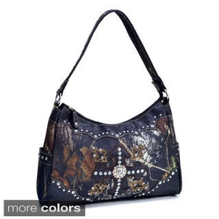 Mossy Oak Studded Cross Camouflage Shoulder Bag