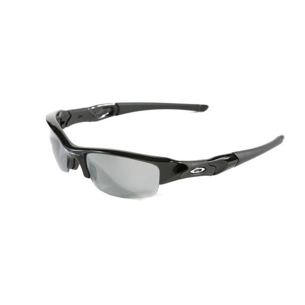 Oakley Flak Jacket Jet Black with Black Iridium Polarized Lenses