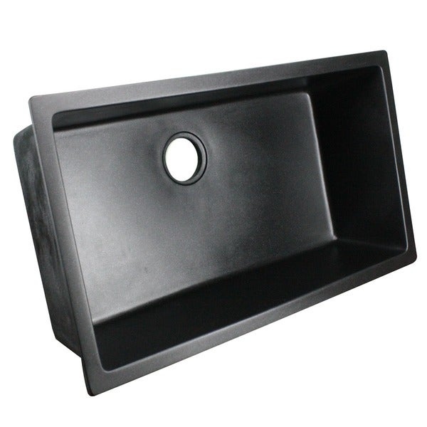 ... Granite Composite 33-inch Single Bowl Black Undermount Kitchen Sink
