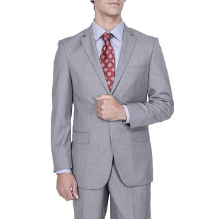 Men's Modern Fit Grey 2-button Suit