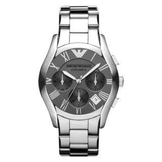 Armani Men's AR1465 Ceramica Silvertone Watch