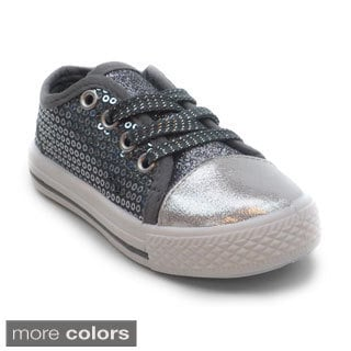 Blue Kids 'K-Jenny Glitz' Sequin Covered Sneakers