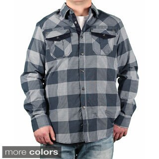 MO7 Men's Plaid Button-down Shirt