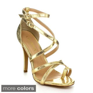 Liliana ROXANNE-3 Women's Strappy High Heels