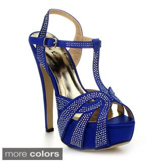 Eye Candie Celine-86 Women's T-Strap Platform Heels