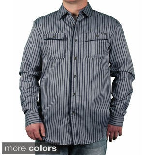 MO7 Men's Pencil Striped Button-down Shirt
