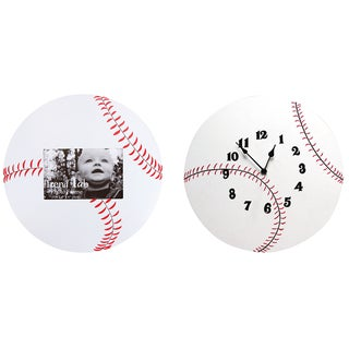 Trend Lab 2-piece Baseball Wood Decor Set