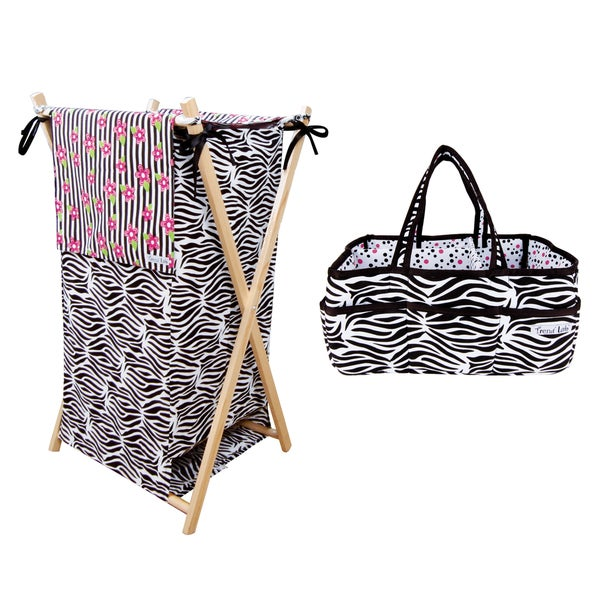 Trend Lab 2-piece Zebra Storage Set