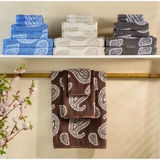 Miranda Haus Collection Paisley Long Staple Cotton Bath Towels (Set of 2)