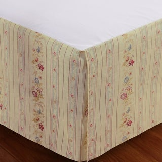Greenland Home Fashions Antique Rose Cotton 15-inch Drop Bedskirt