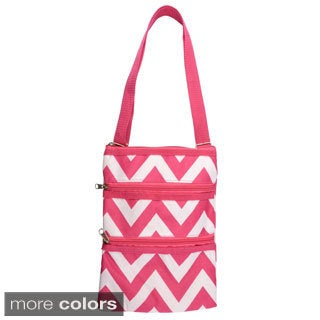Journee Collection Women's Chevron Print Crossbody Bag
