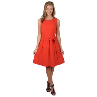 Calvin Klein Women's Belted A-line Dress