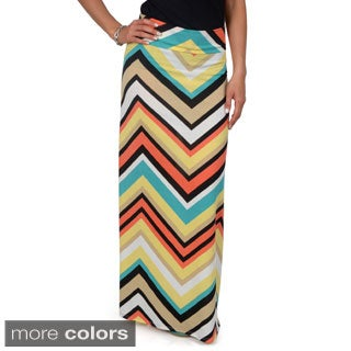 Hailey Jeans Co. Junior's Printed Fold-over Maxi Skirt