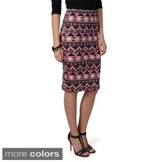 Hailey Jeans Co. Junior's Printed Elastic Waist Pencil Skirt