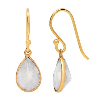 Sitara Goldplated Rainbow Moonstone Dangle Earrings (India)