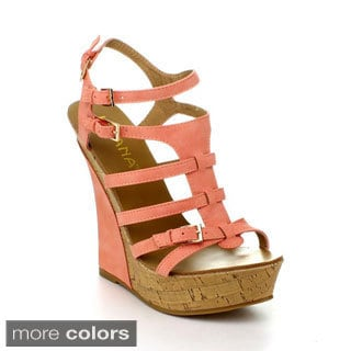 Liliana HONFLEUR-57 Women's Gladiator Wedges